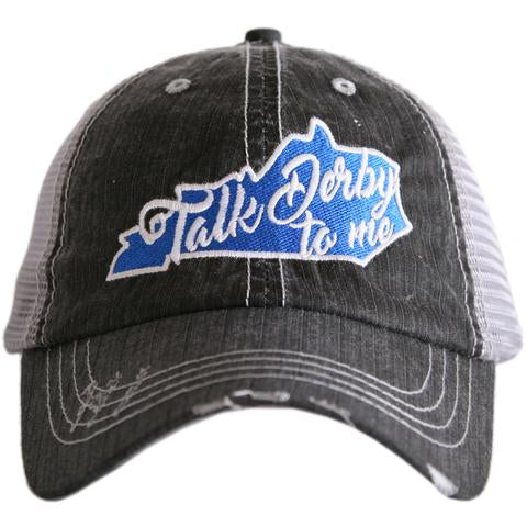 Katydid Kentucky Talk Derby to Me Trucker Hat