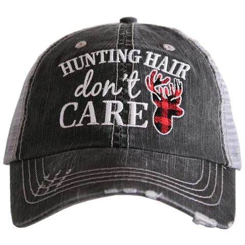 Katydid Hunting Hair Don't Care Trucker Hat
