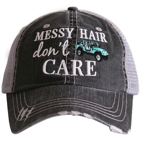 Katydid Messy Hair Don't Care Trucker Hat - 2 Color Choices