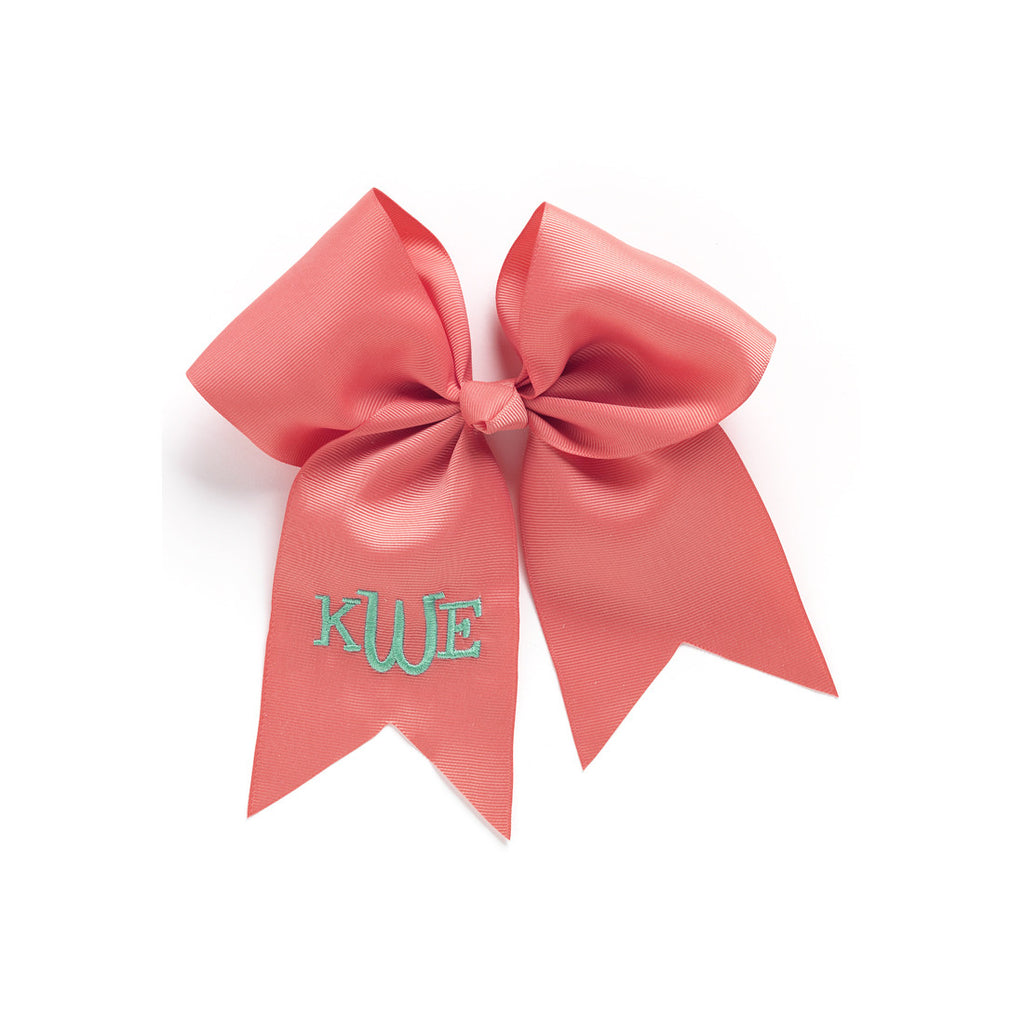 Coral Hairbow w/ Monogram