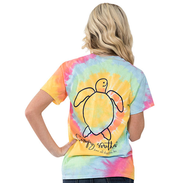 "Youth Simply Southern Turtle ""Tie dye Logo"" Short Sleeve Tee"