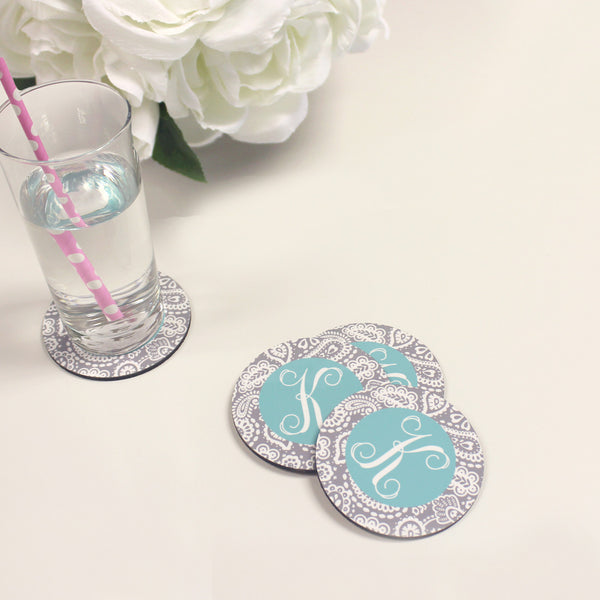 Set of 4 Monogrammed Coasters