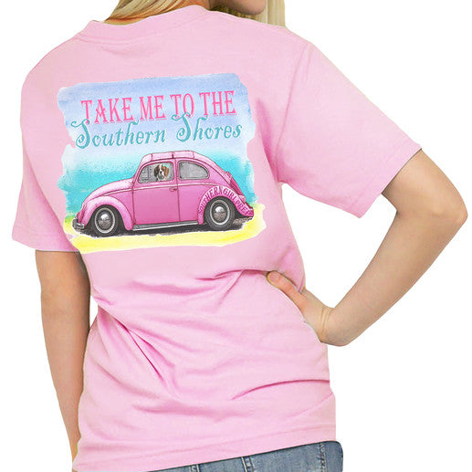 "Southern Girl Prep ""VW Bug"" Short Sleeve T-shirt - 2 Color Choices"