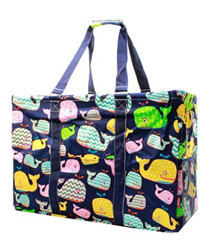 Utility Tote Extra Large - Whale Print - 2 Color Choices