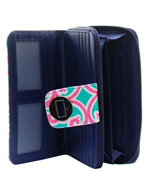 Quilted Wallet Geometric Print