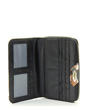 Quilted Wallet Football Print