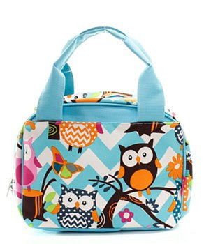 Lunch Tote Chevron Owl - 4 Color Choices