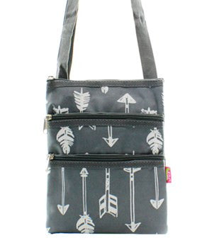 Arrow Print Messenger Bag - 4 Color Choices
