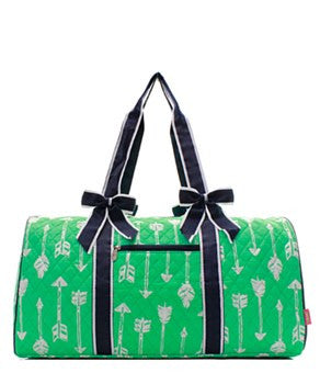 Arrow Print Quilted Duffel Bag - 4 Color Choices