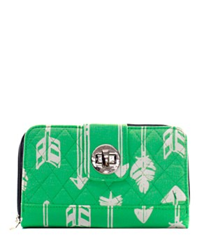 Quilted Wallet Arrow Print