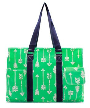 Utility Tote Multi-Pocket - Arrow Print