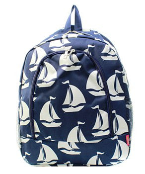 Sailboat Print Backpack