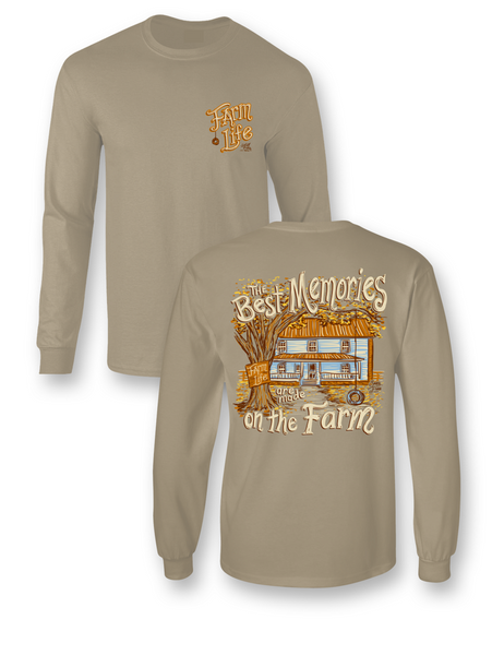 T-SHIRT BEST MEMORIES ON THE FARM LIFE LONG SLEEVE