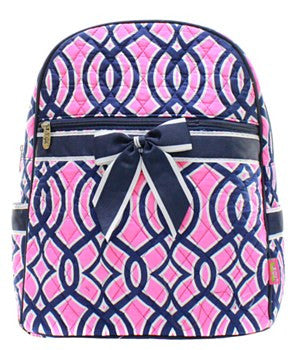 Vine Quilted Backpack - 2 Color Choices