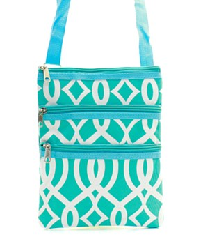 Vine Print Messenger Bag - 4 Color Choices