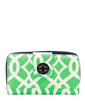 Quilted Wallet Vine Print - 4 Color Choices