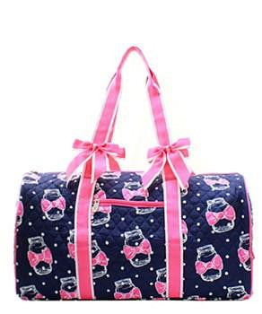 Mason Jar Print Quilted Duffel Bag - 2 Color Choices