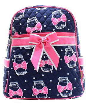 Mason Jar Quilted Backpack