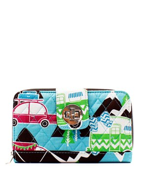 Quilted Wallet Happy Camper Print