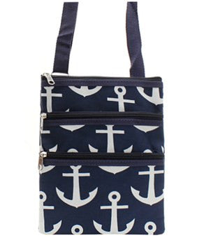 Anchor Print Messenger Bag