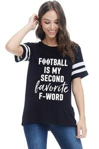 V-Neck Top Football is My Second Favorite F-Word