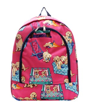 Puppy Print Backpack