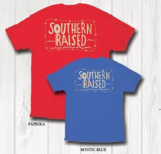 "Southern Raised ""Doodle"" Tee on Comfort Colors - 2 Color Choices"