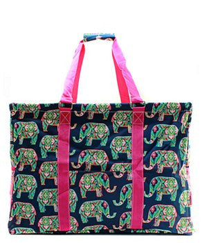 Utility Tote Extra Large - Elephant Print - 2 Color Choices