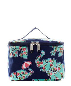 Elephant & Umbrella Small Cosmetic Bag