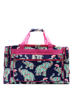 "23"" Elephant & Umbrella Print Duffel - 2 Color Choices"