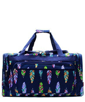 "23"" Feather Print Duffel - 2 Color Choices"