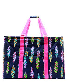 Utility Tote Extra Large - Feather Print - 2 Color Choices