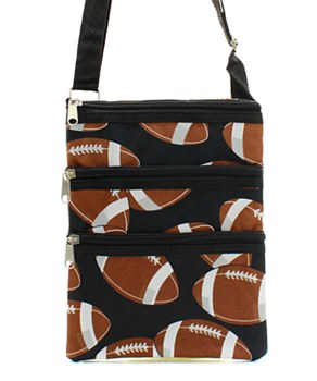 Football Print Messenger Bag