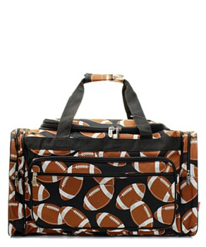 "23"" Football Print Duffel"