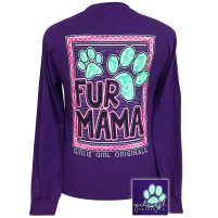 "*Girlie Girl Originals ""Fur Mama"" Long Sleeve T-shirt"
