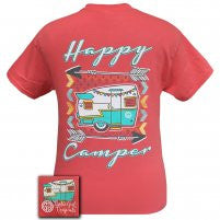 "Youth Girlie Girl - ""Happy Camper"" Tee"