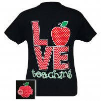 "Girlie Girl Originals ""Love Teaching"" T-shirt-2x"