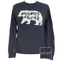 "Girlie Girl Originals ""Mama Bear"" Long Sleeve T-shirt- 2x"