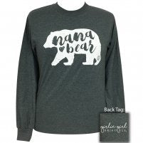 "*Girlie Girl Originals ""Nana Bear"" Long Sleeve T-shirt"