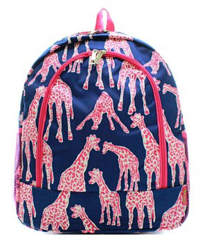 Giraffe Print Backpack
