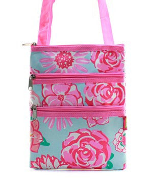 Floral Print Messenger Bag - 2 Color Choices