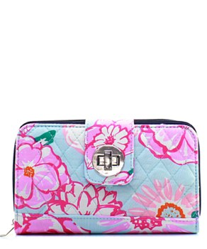 Quilted Wallet Flower Print