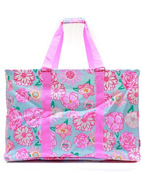 Utility Tote Extra Large - Flower Print - 2 Color Choices