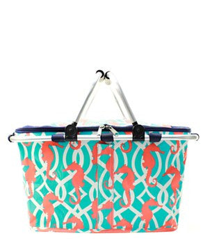 Insulated Picnic Basket Sea Horse