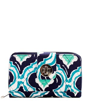 Quilted Wallet IKAT Print