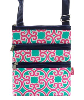 Geometric Print Messenger Bag