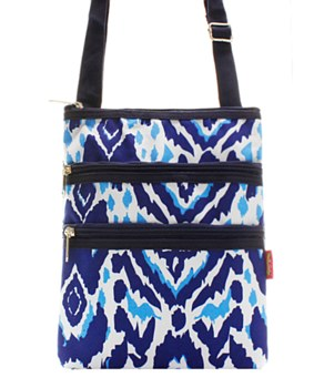 Ikat Print Messenger Bag