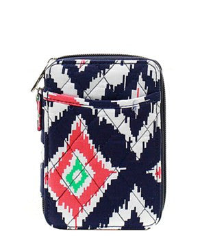 Quilted Wristlet Wallet-IKAT