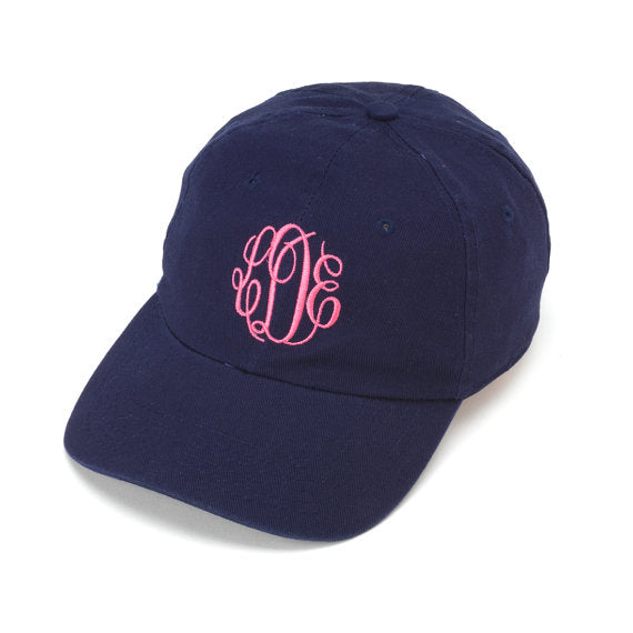 * Navy Monogrammed Ball Cap