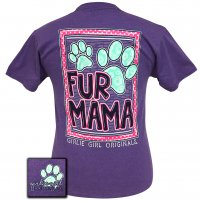 "Girlie Girl Originals ""Fur Mama""  T-shirt 2x & 3x"